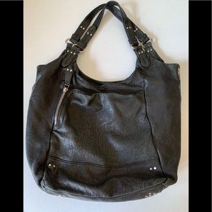 Olivia Harris soft black /green shoulder bag